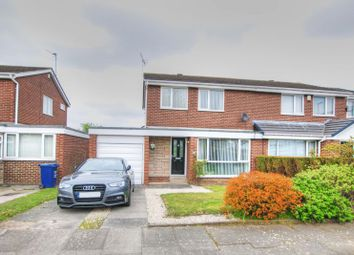 Thumbnail 3 bed semi-detached house for sale in Ravensworth Court, Kingston Park, Newcastle Upon Tyne
