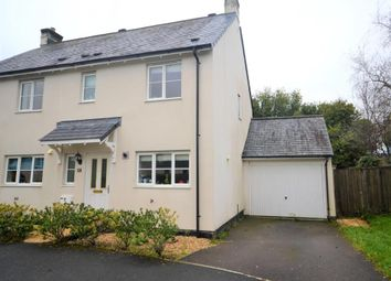 Thumbnail 3 bed semi-detached house to rent in Boconnoc Avenue, Callington, Cornwall