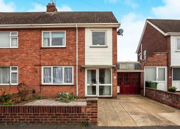 Thumbnail 4 bed semi-detached house for sale in Desborough Avenue, Stanground, Peterborough