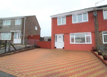 Thumbnail 3 bed semi-detached house for sale in Caerbryn, Pentwynmawr, Newbridge