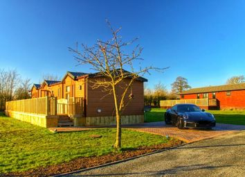Thumbnail 3 bed mobile/park home for sale in Oakwood Retreat Lodges, Back Road, Newton On Derwent, York