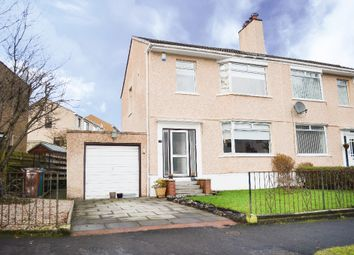 Thumbnail 3 bed semi-detached house for sale in Netherlee Road, Glasgow