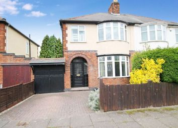 Thumbnail 3 bedroom semi-detached house for sale in Hillcrest Road, Knighton, Leicester