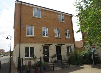 Thumbnail 4 bed town house for sale in Farrow Avenue, Hampton Vale, Peterborough