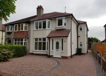 Thumbnail 4 bed semi-detached house for sale in Newton Lane, Hoole, Chester