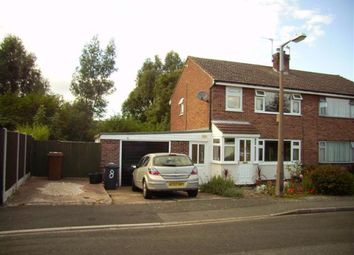Thumbnail 3 bedroom semi-detached house to rent in Bridgeside, Stretton, Burton-On-Trent