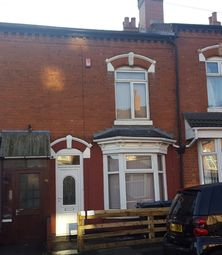 Thumbnail 3 bed terraced house to rent in Clarence Road, Sparkhill, Birmingham
