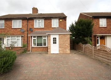 Thumbnail 3 bed semi-detached house for sale in Fairway, Chertsey, Surrey