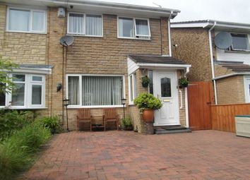 Thumbnail 3 bedroom semi-detached house for sale in Larriston Place, Cramlington