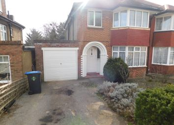 Thumbnail 3 bed semi-detached house to rent in Basing Hill, Wembley, Middlesex