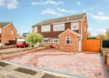Thumbnail 3 bed semi-detached house for sale in Frome Close, Bedford