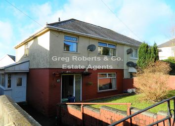Thumbnail 3 bed semi-detached house for sale in Bryn Pica, Tredegar, Blaenau Gwent.