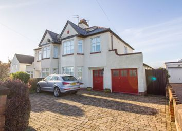 Thumbnail 3 bed semi-detached house for sale in Lavernock Road, Penarth