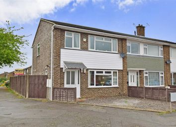 Thumbnail 3 bed end terrace house for sale in Kilndown Close, Maidstone, Kent