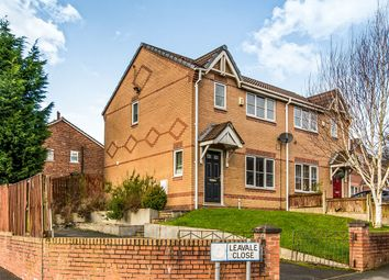 Thumbnail 3 bed semi-detached house for sale in Leavale Close, Little Hulton, Manchester
