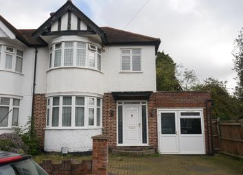Thumbnail 4 bed semi-detached house to rent in Kingshill Drive, Kenton