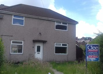 Thumbnail 3 bed semi-detached house for sale in Heol Tir Du, Cwmrhydyceirw, Swansea.