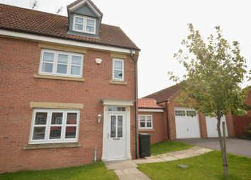 Thumbnail 4 bed semi-detached house for sale in Hastings Drive, Shiremoor, Newcastle Upon Tyne