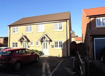 Thumbnail 3 bed semi-detached house for sale in Hamilton Way, Coningsby, Lincoln