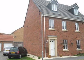 Thumbnail 3 bed town house to rent in Lapwing Close, Corby, Northamptonshire