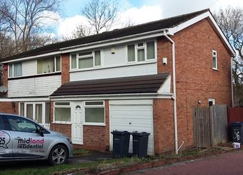 Thumbnail 3 bed semi-detached house to rent in The Greenway, Handsworth Wood