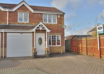 Thumbnail 3 bed semi-detached house for sale in Skipton Close, Bedlington