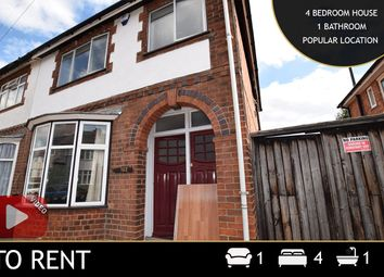 Thumbnail 4 bed terraced house to rent in Greenhill Road, Leicester