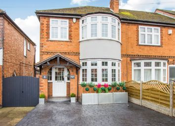 Thumbnail 3 bed end terrace house for sale in Harborough Road, Oadby, Leicester