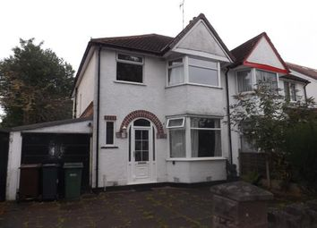 Thumbnail 3 bed semi-detached house for sale in Stanway Road, Shirley, Solihull, West Midlands