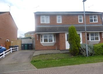 Thumbnail 3 bed semi-detached house for sale in Pinel Close, Broughton Astley, Leicester