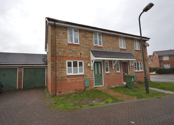 Thumbnail 3 bed semi-detached house for sale in Redbourne Drive, North Thamesmead, London