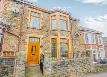 Thumbnail 4 bed terraced house for sale in Capel Street, Bargoed
