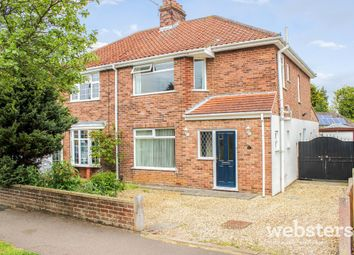 Thumbnail 3 bedroom semi-detached house for sale in Brian Avenue, Norwich