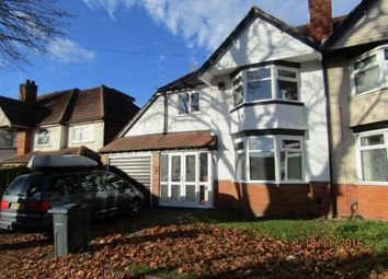 Thumbnail 3 bedroom semi-detached house to rent in Cubley Road, Hall Green, Birmingham