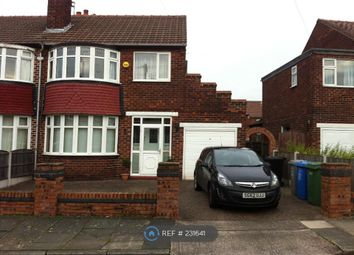 Thumbnail 3 bedroom semi-detached house to rent in Whalley Avenue, Manchester