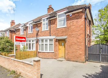 Thumbnail 3 bedroom semi-detached house for sale in Broadway Road, Evington, Leicester