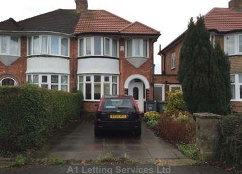 Thumbnail 3 bed semi-detached house to rent in Wellsford Avenue, Sheldon, Birmingham
