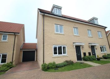 Thumbnail 4 bedroom semi-detached house for sale in Buzzard Rise, Stowmarket, Suffolk