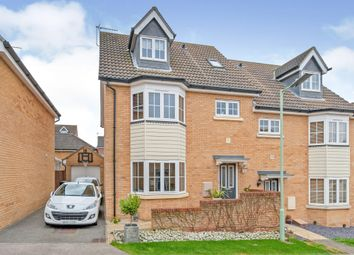 Thumbnail 4 bed semi-detached house for sale in Eagle Close, Stowmarket