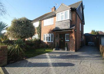 Thumbnail 4 bed semi-detached house for sale in Gordon Road, Ashford, Surrey