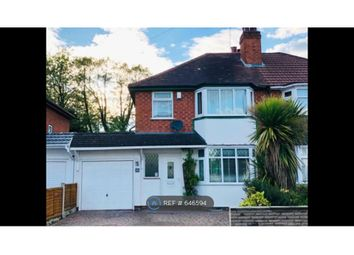 Thumbnail 3 bed semi-detached house to rent in Brookvale Road, Solihull