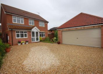 Thumbnail 4 bed detached house to rent in Deira Close, Quarrington, Sleaford