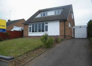 Thumbnail 3 bed detached bungalow to rent in Valley Road, Loughborough