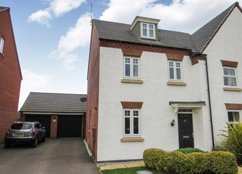 Thumbnail 3 bed semi-detached house for sale in Angell Drive, Market Harborough
