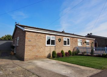 Thumbnail 2 bed semi-detached bungalow for sale in Hawthorn Close, Wymondham, Norfolk