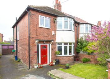 Thumbnail 3 bedroom semi-detached house for sale in Gledhow Park Avenue, Leeds, West Yorkshire