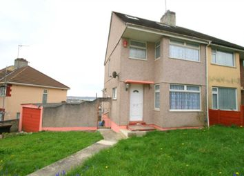Thumbnail 3 bedroom semi-detached house for sale in Churchway, Plymouth