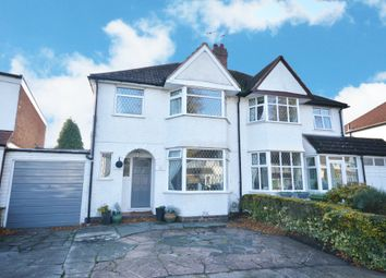 Thumbnail 3 bed semi-detached house to rent in Cropthorne Road, Shirley, Solihull, West Midlands