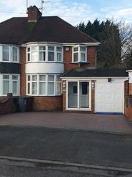 Thumbnail 3 bed semi-detached house to rent in Wells Road, Solihull