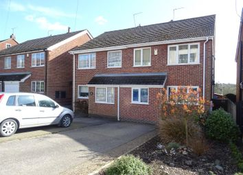 Thumbnail 3 bed semi-detached house for sale in Dennis Street, Hugglescote, Leicestershire